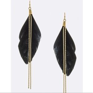 Jewelry - Black feather earrings